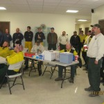 Briefing at the ICP for the High Eagle Fire