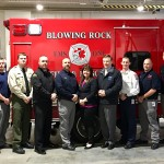 Commissioner Causey Visit's Blowing Rock Fire