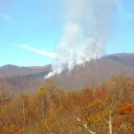 120 Acre wildfire in the Sampson Community