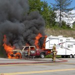 Vehicle Fire 321S in Caldwell County